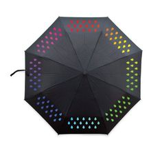 Ailife Magic Water Activated Color Changing Umbrella Rain Drop Pattern Portable Lightweight Foldable Windproof AntiUV Umbrella Parasol for Beach Camping Travel -- You can find more details by visiting the image link. (This is an affiliate link) Black Umbrella, Travel Umbrella, Folding Umbrella, Compact Umbrella, Umbrellas Parasols, Jack Threads, Singing In The Rain, Novelty Gifts, Rain