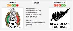 New Zealand - Confederations Cup Match Date: June 2017 (local time) Match Venue: Olimpiyskiy Stadion Fisht (Sochi) Cup Games, New Zealand, 21st, Mexico, June