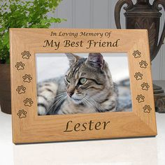 "Personalized Memorial Cat Frame ""In Loving Memory Of My Best Friend"""