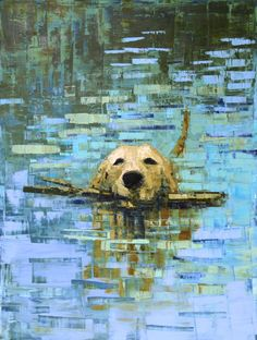 Stick No. 3 by Rebecca Kinkead Great use of brush strokes to show texture of water! #claudemonet