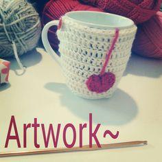 Crochet cup cozy.. Visit my etsy shop: https://www.etsy.com/shop/ArtworkHakeln