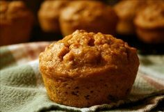Moist Oatmeal Pumpkin Muffins from Food.com: Since I discovered my husband has diabetes, I have been trying to add more fiber rich foods to my families diet. The oatmeal in this recipe helps with this, and the kids and everyone else realy like these moist treats. Try them!!!
