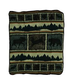 Acrylic Throw Blankets Wilderness Wonders Plush Fleece Throw Blanket 50 X 60 In 50 X 60 X 025 Inches Multicolored Model  GGWLDWOTH * Check this awesome product by going to the link at the image.-It is an affiliate link to Amazon. #Sofa