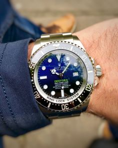 Rolex Watches - Rolex Watches - The big, bold and blue beast that is the Rolex Deepsea. A huge watch with a huge. Best Watches For Men, Rolex Watches For Men, Vintage Watches For Men, Luxury Watches For Men, Rolex Daytona Watch, Rolex Presidential, Rolex Explorer, Rolex Day Date, Waterproof Watch