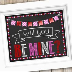 Great photo prop for Valentine's Day! Instant Download Valentine's Printable ❤️❤️