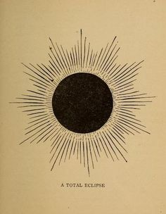 "nemfrog: """"A total eclipse."" Astronomy, the sun and his family. 1898. """