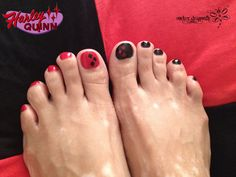 Harley Quinn Nails by RockerDragonfly