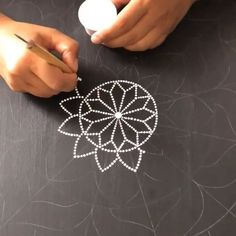 New mandala in progress with .to be continued. Mandala Art Lesson, Mandala Drawing, Mandala Painting, Mandala Design, Mandala Pattern, Mandala Painted Rocks, Mandala Rocks, Dot Art Painting, Stone Painting