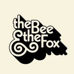New logo for The Bee & The Fox Part of a great larger project Ive been working Geile Logos Logo Inspiration, Types Of Lettering, Lettering Design, Typography Design Layout, Self Branding, Branding Design, Logo Type Design, Tee Design, Logo Branding