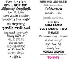 Have and LOVE these fonts!  I use Elephants in a Cherry Tree and smiley monster together ALL the time!