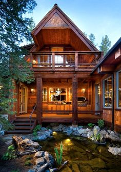 would love to have a summer/winter home like this...so sweet and beautiful.