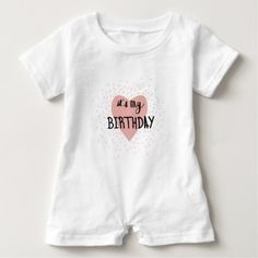#Birthday Girl Baby Romper - #giftidea #gift #present #idea #one #first #bday #birthday #1stbirthday #party #1st