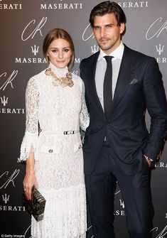 Olivia Palermo and Johannes Huebl at the CR Fashion Book launch party in Paris l September 30th, 2014