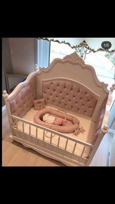 50 Inspiring Nursery Ideas for Your Baby Girl - Cute Designs You'll Love Get inspired to prepare and create the perfect room for your baby girl. These baby girl nursery ideas can help you create a cute girly room style. Baby Bedroom, Baby Room Decor, Nursery Room, Girls Bedroom, Nursery Ideas, Babyroom Ideas, Ocean Nursery, White Nursery, Nursery Inspiration