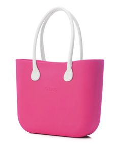 Another great find on #zulily! Magenta White Faux Leather Handle O Bag #zulilyfinds