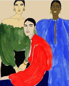 #fashion #illustration #editorial #womenswear