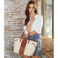 Miller Signature Initial Tote - Leather Monogram Bag | Fashion | Mud Pie