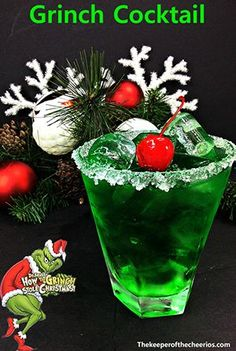 Grinch Cocktail, adult drink, Adult Christmas drink clever christmas decorations, christmas ideas decoration diy, christmas ideas diy decoration christmas drinks Grinch Cocktail - The Keeper of the Cheerios Christmas Party Drinks, Grinch Christmas Party, Grinch Party, Noel Christmas, Holiday Cocktails, Holiday Parties, Christmas Party Ideas For Adults, Christmas Ideas, Christmas Recipes