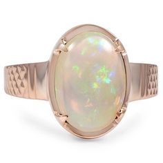 Rose Gold Yareli Ring with Opal Stone