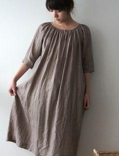 Matilda dress by Lisette. Made in Japan. 100% linen. [Envelope Online Shop]Matilda