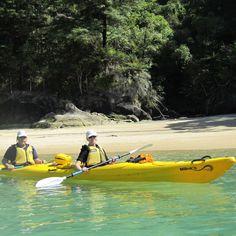 Kayaking with my wife in Abel Tasman National Park, on New Zealand's wild coast.