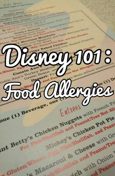 Food allergies at Disney? Traveling with food allergies can be a hassle, but Disney makes it easier than most. Here is my 5 Minute Guide to Dealing with Food Allergies at Disney World and Disneyland Disney World Food, Disney World Restaurants, Disney World Florida, Walt Disney World Vacations, Disneyland Vacations, Disney Travel, Family Vacations, Disneyland Food, Disneyland California