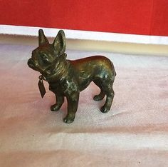 Vintage-Antique-1912-French-Bulldog-Table-Top-Lighter-Figurine-Collectible