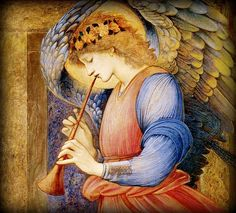 Edward Burne-Jones - An Angel Playing a Flageolet - Sudley House, Liverpool, England.