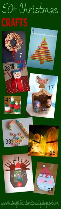 """YIKES!!!  50+ Christmas Crafts for Kids! This is a round-up of the best of from LOTS of kids bloggers! This will be my go-to list for Christmas crafts for kids =-)"""