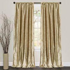 Lush Decor Velvet Dream Gold 84 Inch Curtain Panel Pair