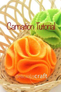Visit: http://deliciouscraft.com/2014/10/carnation-tutorial/