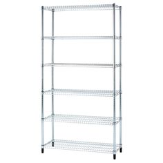 Muscle Rack 48 inchW x 74 inchH x 12 inchD Heavy Duty Chrome Wire Shelving Unit, Silver Heavy Duty Shelving, Wire Shelving Units, Industrial Shelving, Shelves, Bar Furniture, Cheap Furniture, Ikea Omar, Outside Bars, Gold Bar Cart
