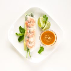 Shrimp and Avocado Summer Rolls (Fresh Spring Rolls) Shrimp Spring Rolls, Fresh Spring Rolls, Summer Rolls, Fresh Rolls, Spring Roll Wrappers, Peanut Dipping Sauces, Shrimp Avocado, Thing 1, Everyday Food