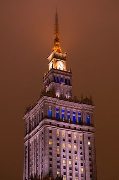 Palace of Culture and Science in Warsaw, Poland.