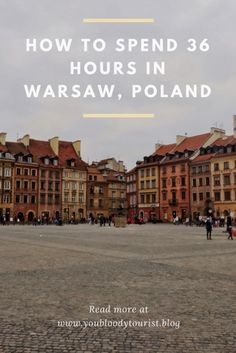If you're in Poland, make sure to check out the capital city - Warsaw. This blog gives you all the details on how to spend a budget 36 hours in the city.