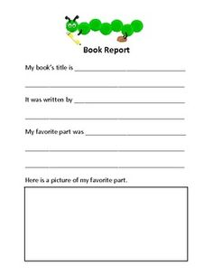 Elementary Book Report
