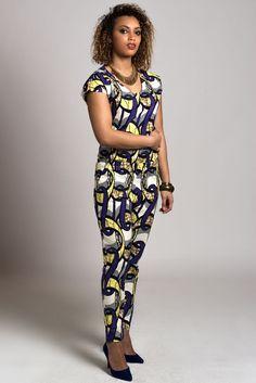 combinaison pantalon en wax africain N°5 : Autres mode par openya-couture