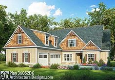 Outstanding Craftsman House Plan - 36052DK | Craftsman, Northwest, 1st Floor Master Suite, Bonus Room, Butler Walk-in Pantry, CAD Available, Den-Office-Library-Study, Jack & Jill Bath, PDF | Architectural Designs