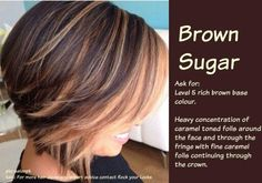Balyaj Ideas for Short Hair Hair Highlights Bob Hair Color, Haircut And Color, Hair Color Balayage, Hair Highlights, Partial Highlights, Blonde Balayage, Ombre Hair, Blonde Foils, Honey Highlights