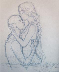 soiled by queenofthecute.tu kataang by queenofthecute.tu… kataang by queenofthecute. Human Figure Drawing, Figure Sketching, Drawing Sketches, Art Drawings, Poses References, Art Poses, Drawing Reference Poses, Drawing Base, Couple Drawings