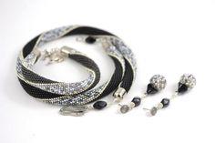 Foggy London Silver Bracelet Classic Bead Crochet Bracelet