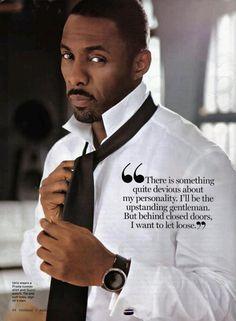Idris Elba in Essence magazine . close the door & let's let loose! Idris Elba, Gorgeous Men, Black Is Beautiful, Beautiful People, Beautiful Things, Beautiful Celebrities, Hot Men, Sexy Men, Hot Guys