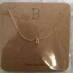 B 14k initial necklace in rose gold francescas initial b initial pendant necklace letter b initial pendant necklace letter b francescas collections jewelry necklaces aloadofball Choice Image