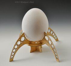 Egg Lander--industrial chic/steampunk egg holders