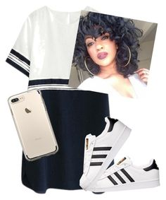 """""""trill101"""" by queenbee12e ❤ liked on Polyvore featuring adidas"""