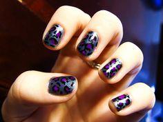 Grey & Purple Leopard