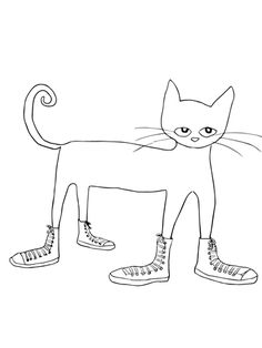 Pete the Cat I Love my White Shoes coloring page from Pete the cat category. Select from 20946 printable crafts of cartoons, nature, animals, Bible and many more.
