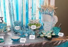 Project Nursery - Mermaid Party Under the Sea Birthday Party  love the starfish wands!