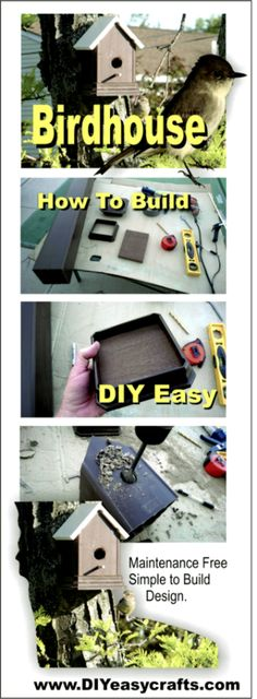 How to build a DIY easy Birdhouse with maintenance free Trex and PVC. Simple fast and easy project takes less than 1 hour. Check out how easy it is to build . Homemade Bird Houses, Bird Houses Diy, Bird House Plans, Bird House Kits, Finch Bird House, How To Build Abs, Birdhouse Designs, Birdhouse Ideas, Bird Aviary