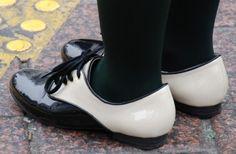 Bi-color Women Derby Shoes